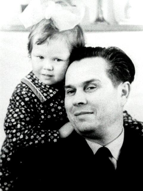 Anwar Nasyrow mit Tochter Dschamilia